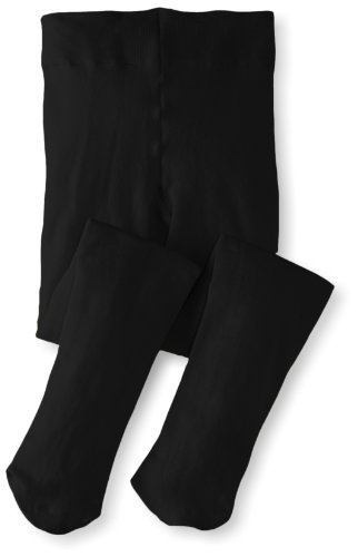Jefferies Socks Little Girls'  Pima Cotton Tights, Black, 2-4 Years