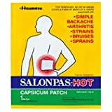 Salonpas Hot (Capsicum Patch /1-ct) - 5.12 X 7.09 Inch (Pack of 6)