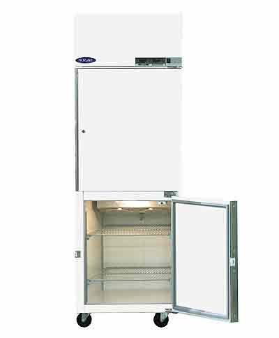 Refrigerator/Freezer Combination, 2 Doors, 2 LED Displays with Visual Alarm, 115V/60Hz