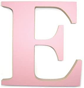 Large pink wooden letter e amazoncouk kitchen home for Large wooden letters amazon