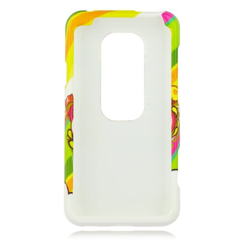 Talon Phone Case for HTC EVO 3D - Pirate Bay - Sprint - 1 Pack - Case - Retail Packaging - Green, Yellow, and Pink from Talon