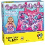 Creativity for Kids Sparkle Butterfly Purse