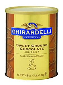 Ghirardelli Chocolate Sweet Ground Chocolate & Cocoa, 3 lb.