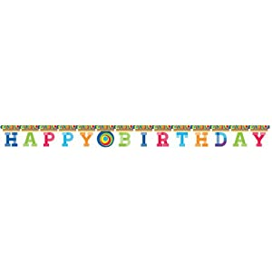 Creative Converting Party Decoration Jointed Banner, Mod Circle Birthday, 8-Feet from Creative Converting