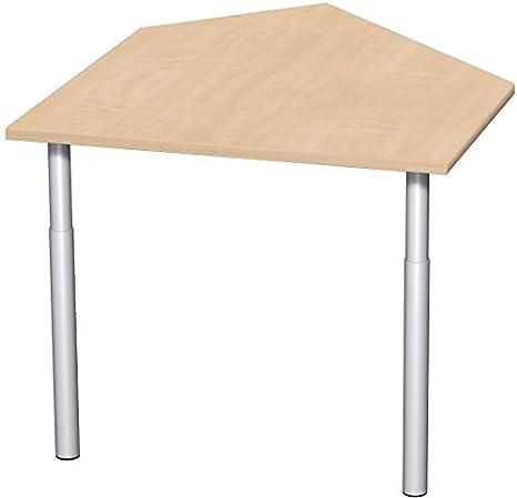 Dati coltivazione tavolo sinistra con stabilizzatori, incl. materiale concatenazione, regolabile in altezza, Cornice, 1060x 1225X 680-820, faggio/argento, mobili