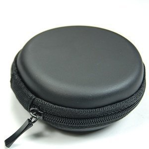 Vanki PU Leather Case for Earphone Cables-Black