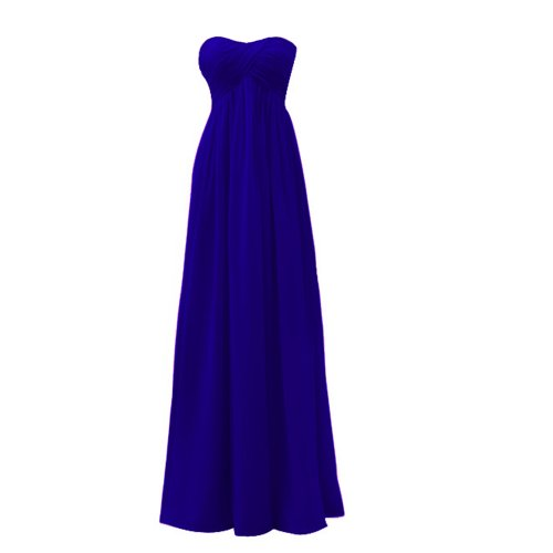 Fashion Plaza Strapless Lace Up Evening Bridesmaids Dresses D003 (Us4, Sapphire Blue)