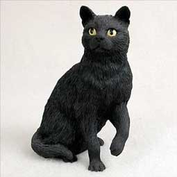 Shorthair Black Cat Figurine