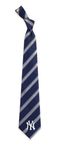 New York Yankees Woven Polyester Necktie (New York Yankee Tie compare prices)