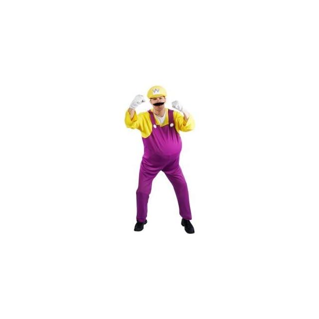Super Mario Bros.   Wario Adult Costume Size X Large