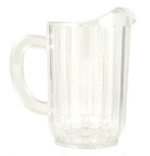 32 Oz. (Ounce) Water Beverage Serving Pitchers, Beer Pitcher, Restaurant Grade Heavy-Duty SAN Material Plastic Pitcher - Clear (Plastic Beverage Pitcher compare prices)