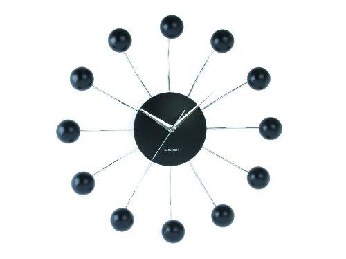 Karlsson Wall Clock Big Spider Steel With Plastic Balls Black