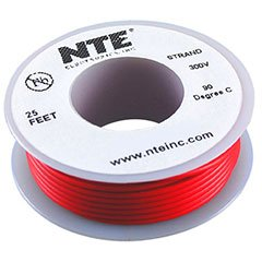 NTE Stranded 26 AWG Hook-Up Wire Red 25 ft.