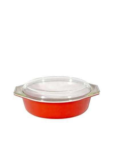 2 B Modern 1960s Pyrex Casserole, Red