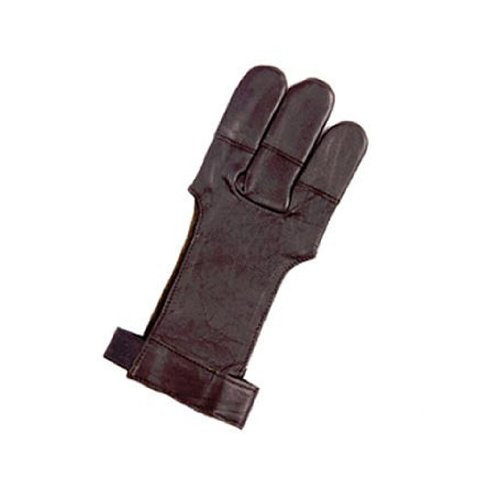 Petron - Archery bear claw Shooting Glove - brown leather - Small
