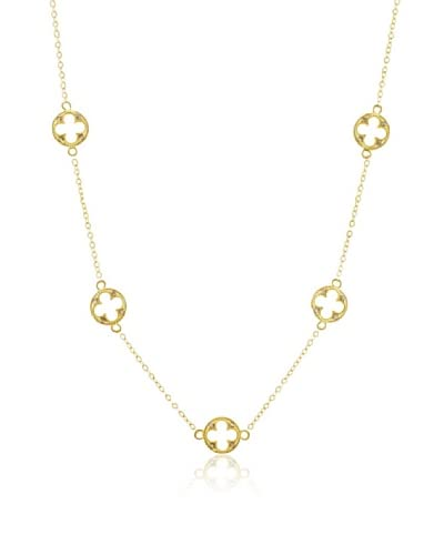 Belargo Golden Open Clover Necklace