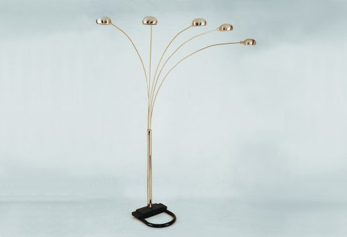 """Pewter Shade Arm Arc Sectional Floor Lamp 82""""h Nickel Finish"""