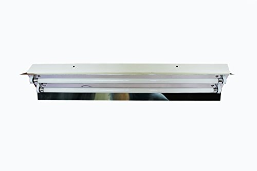 Easyjoy Hydroponics T5 Propagation Grow Light 2*24W 6500K Cfl Tube Reflector Kit