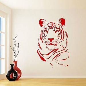 Iconic stickers large cat lion tiger animal wall sticker
