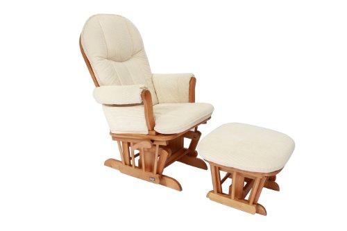 Tutti Bambini Fleur Multi Position Locking Glider Chair and Stool (Oak)