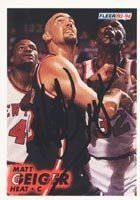Matt Geiger Miami Heat 1993 Fleer Autographed Hand Signed Trading Card - Rookie Card. by Hall+of+Fame+Memorabilia