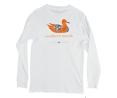Southern Marsh Authentic Heritage Collection White Tennessee Long Sleeve T-shirt-xl (Southern Shirt Company Xl compare prices)