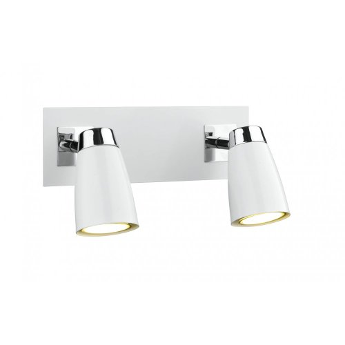 DAR - LOFT 2LIGHT LE SPOT SWITCH POLISHED CHROME  &  MATT WHITE