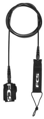 FCS Competition Weight 6' Surfboard Leash Black