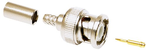 Allen Tel GBNC58-H 50-Ohm BNC Coaxial Connector for Hex Crimp, Compatible with RG/U 58 Cable, 2-Pack