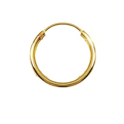 18K Gold Plated 16 mm Classic Creole Hoop Earrings