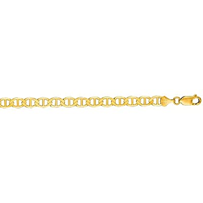 14K Solid Yellow Gold Mariner Bracelet 6.3mm thick 8.5 Inches