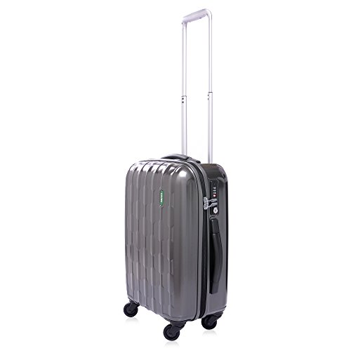 lojel-arrowhead-polycarbonate-large-upright-spinner-luggage-grey-one-size