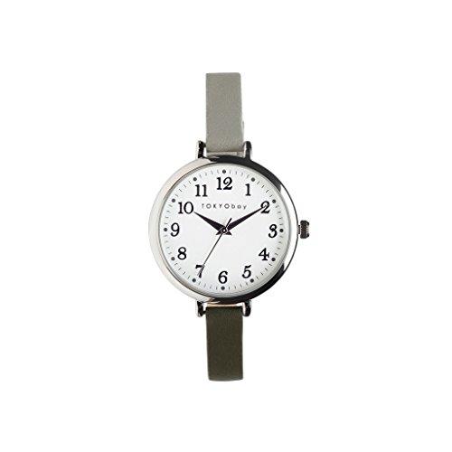 tokyobay-t523-gr-damen-edelstahl-zwei-ton-leder-band-weiss-zifferblatt-smart-watch