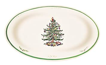 #!Cheap Spode Christmas Tree Oval Dish