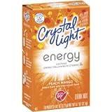 Crystal Light Energy On The Go Packets, Peach Mango, 10 ea