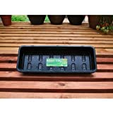 Seed Tray Garland Narrow Seed Trays Black 2 Tier Drainage Cells Strong Rim