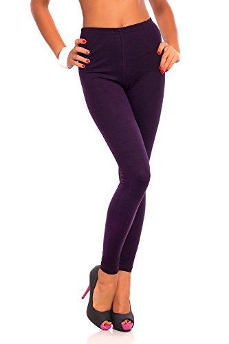 Futuro Fashion® Full Length Cotton Leggings All Colours Active Pants Trousers