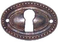 Oval Keyhole Cover - Antique Patina