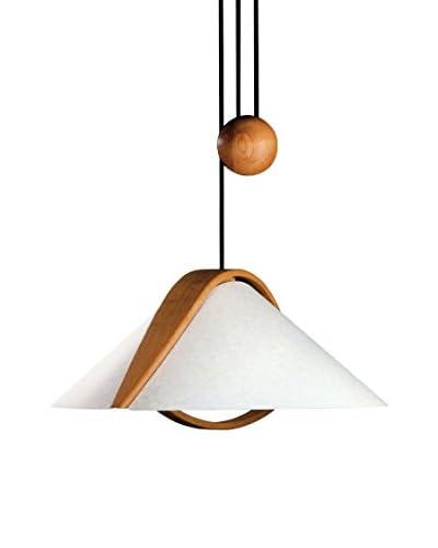 Justice Design Group Arta Pull-Down Pendant Light, Natural/Parchment