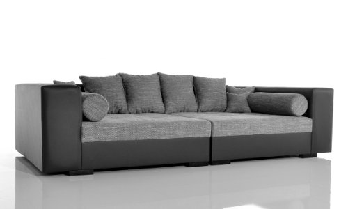 big sofa stella 300x140 cm schwarz grau wohnlandschaft hempels sofa. Black Bedroom Furniture Sets. Home Design Ideas