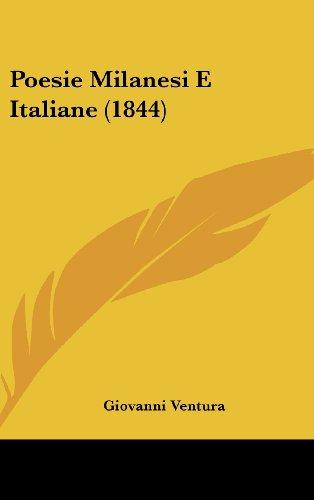 Poesie Milanesi E Italiane (1844)