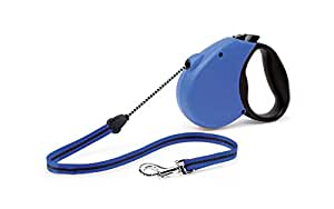 Flexi Freedom Soft Grip Retractable Cord Dog Leash, Medium, 16-Feet Long, Supports up to 44-Pound, Blue/Black