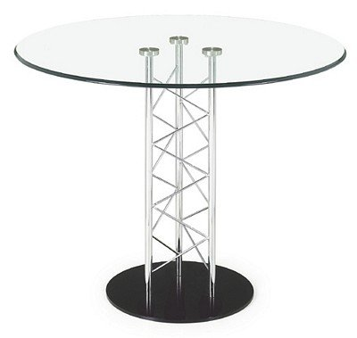 Image of Glass Top Dining Table With Black Base (B000K1Z7WU)