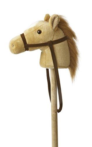 """Aurora World World Giddy-Up Stick Horse 37"""" Plush, Beige"""