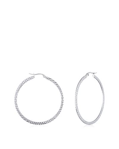 Bliss Diamond Cut 40mm Textured Hoop Earrings