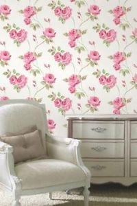 Fine Decor Romance Wallpaper - Pink from New A-Brend