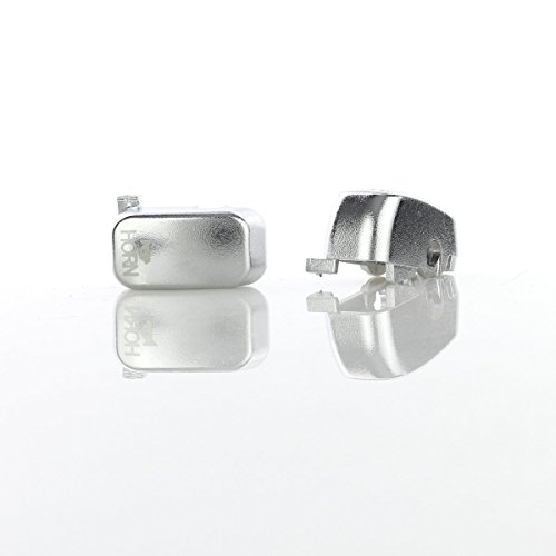 GES Motorcycle Parts Hand Controls Switch Housing Buttons Caps Cover For Harley Electra Glide Street (Silver)