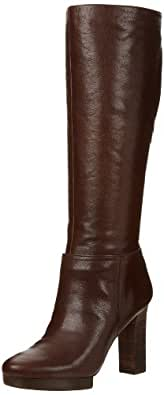 Nine West Women's Banfan Platform Boot,Brown Leather,12 M US