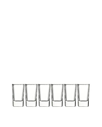 Luminarc Set of 6 Square 2.75-Oz. Tall Shot Glasses, Clear