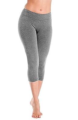 4How Women's Capri Tights Running Yoga Pants Workout Leggings